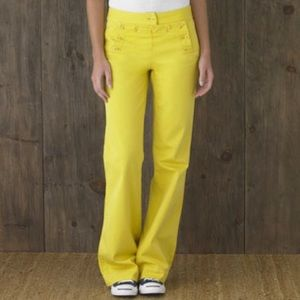 J.Crew Yellow Sailer Button Chino Pants 70s